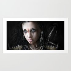 Edge of Her World Art Print
