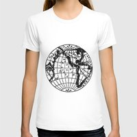 globe T-shirts featuring Globe by Gallymogger Print