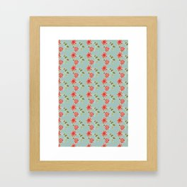 folk flower Framed Art Print