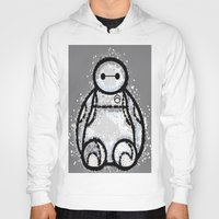 baymax Hoodies featuring Baymax by grapeloverarts