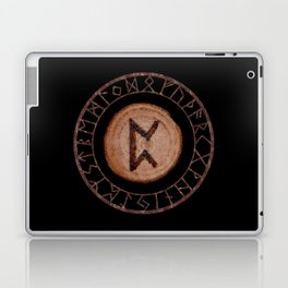 Perthro Elder Futhark Rune of fate and the unmanifest, probability, luck, nothingness, the unborn Laptop & iPad Skin
