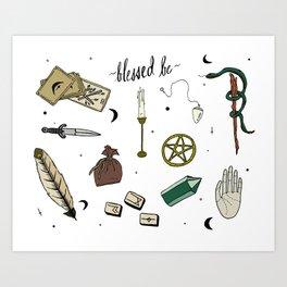 Wiccan Altar Flash Sheet Art Print