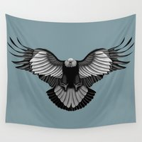 eagle Wall Tapestries featuring Eagle by Schwebewesen • Romina Lutz