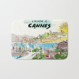 Winter In Cannes Bath Mat