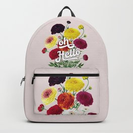 oh Hello vintage spring flowers Backpack