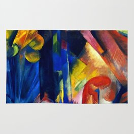 """Franz Marc """"Forest with squirrel"""" Rug"""