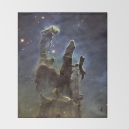Pillars of Creation (Eagle Nebula) Throw Blanket