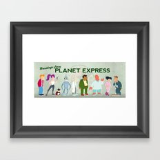 Planet Express Framed Art Print