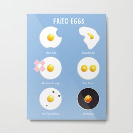 Fried eggs Metal Print