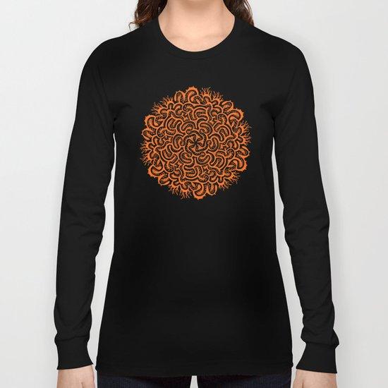 Bugs Maze (orange) Long Sleeve T-shirt