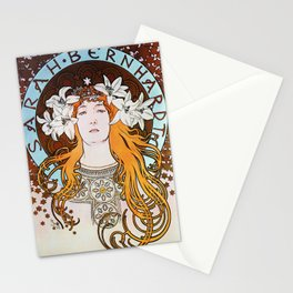 Alphonse Mucha Sarah Bernhardt Vintage Art Nouveau Stationery Cards