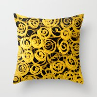 pasta Throw Pillows featuring pasta by clemm