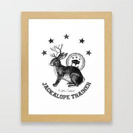 5 star certified jackalope trainer Framed Art Print