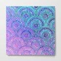 Aqua Blue Purple and Pink Sparkling Glitter Circles by betterhome