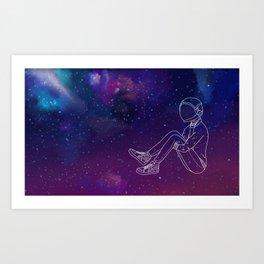 Galaxy Boy Art Print