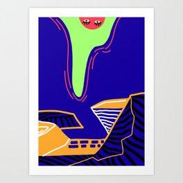A Sneak peek Art Print