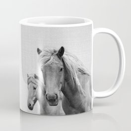 Horses - Black & White Coffee Mug