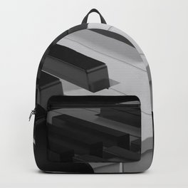 Keyboard of a black piano - 3D rendering Backpack