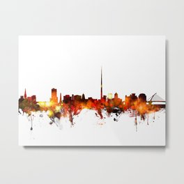 Dublin Ireland Skyline Metal Print