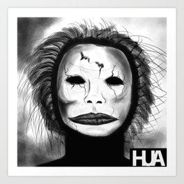 Broken Face Art Print