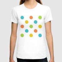 polka dot T-shirts featuring Colorful polka dot pattern by Natalia Bykova