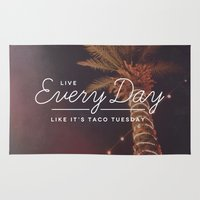taco Area & Throw Rugs featuring Taco Tuesday by Zeke Tucker