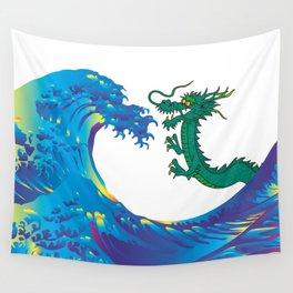 Hokusai Rainbow & Dragon Wall Tapestry