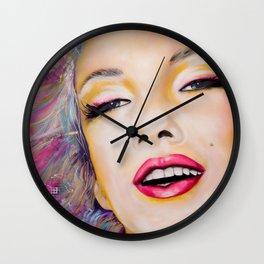 Graffiti tribute to Marilyn original painting Wall Clock