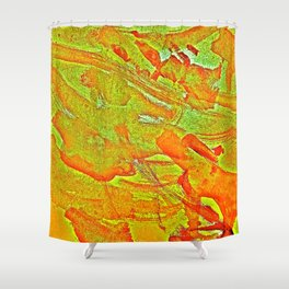 Bloody-Nature Abstract Shower Curtain