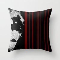 marx Throw Pillows featuring Marx by Barnyard Industrial