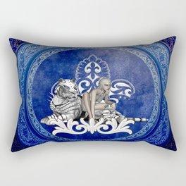 Beautiful snow tiger Rectangular Pillow
