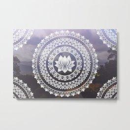 Lotus Mandala - Windermere Hills Landscape Metal Print