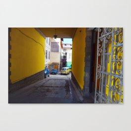 Yellow Tunnel Canvas Print