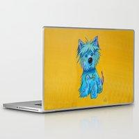 westie Laptop & iPad Skins featuring Westie dog by K.ForstnerArt