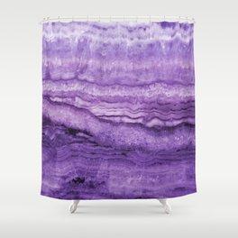 Mystic Stone Wild Violet Shower Curtain