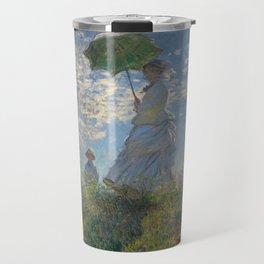 Claude Monet - Woman With A Parasol Travel Mug