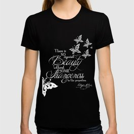 Strange Skullerflies - EA Poe Quote T-shirt