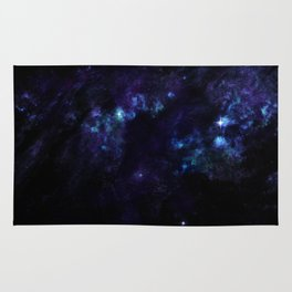 hushed century - planet and starfield Rug