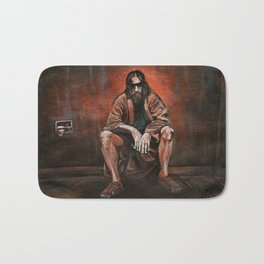 """The Dude, """"You pissed on my rug!"""" Bath Mat"""