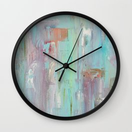 Mint Abstract Painting Wall Clock