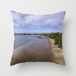 Stanmore Bay beach life Throw Pillow