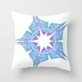 Peacock Star Throw Pillow