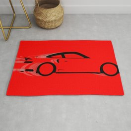 Fast Red Car Rug