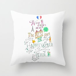 The Happily Ever After Throw Pillow