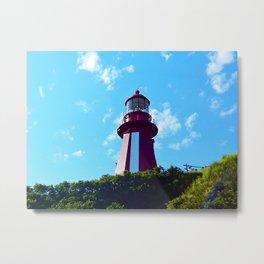 La Martre Lighthouse from Below Metal Print
