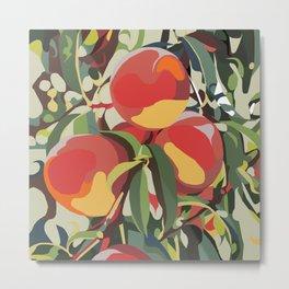 Peach Tree Jungle Metal Print