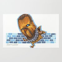 chewbacca Area & Throw Rugs featuring Chicken Chewbacca by Boom Cookie
