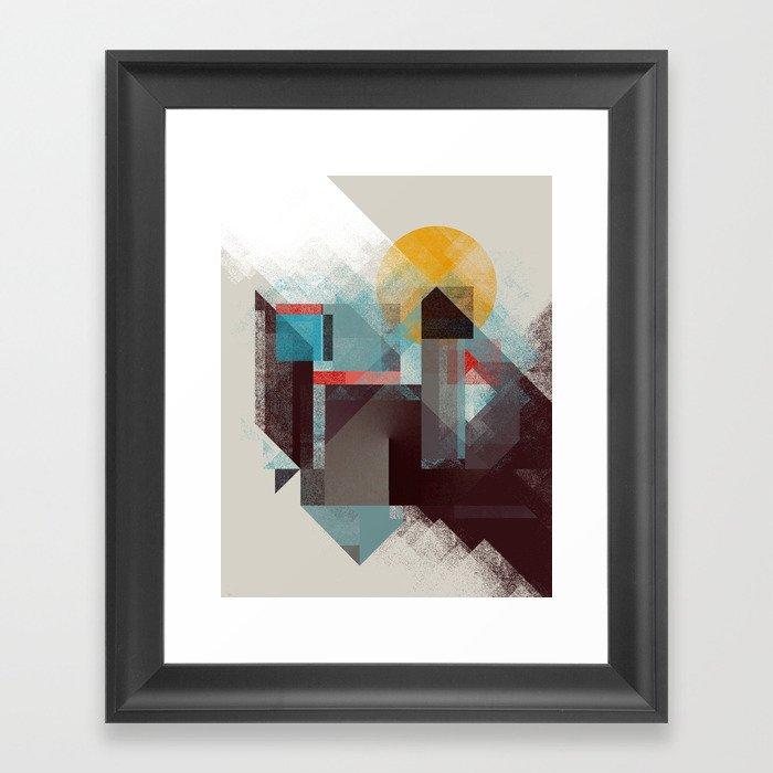Over mountains Framed Art Print