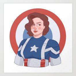 Captain Peggy Carter Art Print