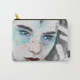 Third eye girl sketch Carry-All Pouch
